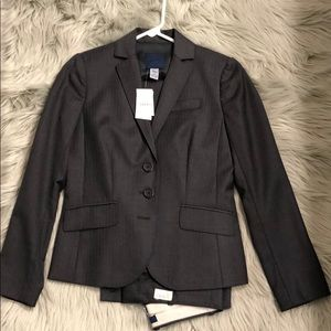 NWT J. Crew charcoal pinstripe suit